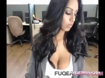 Latina girl with big tits on webcam