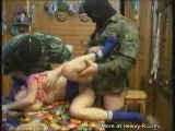 Soldiers Having Fun With Girl