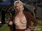 Reporter flashes breasts at game
