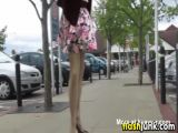 Wind Blowing Under Skirt
