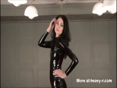 Black latex suit babes posing in rubber boots and tight pvc