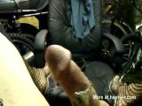 Shemale Cumming On Office Chair
