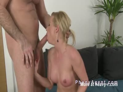Blonde Gets Casting Banged