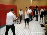 Locker room fight goes EXTREMELY wrong