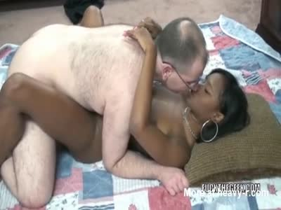 Hairy Old Creep Fucks Ebony Teen