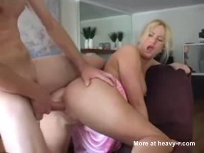 MILF Blonde Sucking And Fucking In Kitchen
