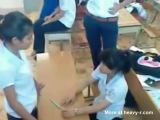 Brutal Humiliation Of Girl At School
