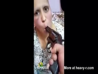 Battered Woman Humiliated At Gunpoint
