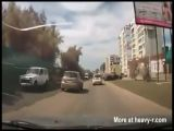 Speeding car almost causes fatal accident