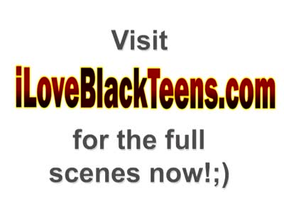 Adorable ebony teen sucks and rides in interracial action