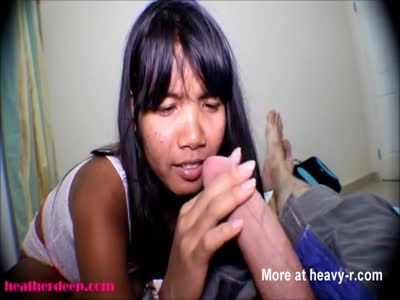 Asian Girl Talking Dirty Whil Giving Deepthroat Oral Sex