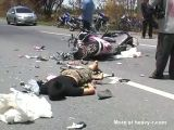 Aftermath of horrific motorcycle accident