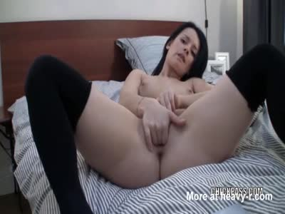 Finger Banging Her Tiny Pussy