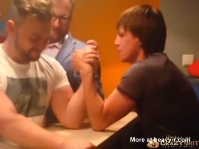 Guy Breaks Arm In Arm Wrestling Match