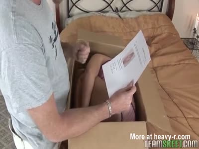 Petite Teen Delivered In Box As Lifelike Doll