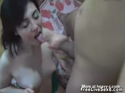Amateur Babe Gets Big Facial