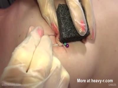 Piercing Needles Through Nipples