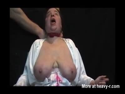 Stabbing Saggy Tits Mature