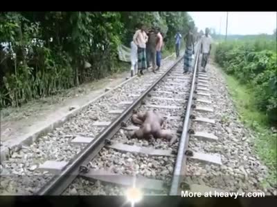 NAKED SUICIDAL MAN...!