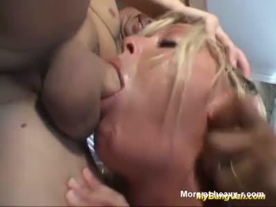 Busty Stepmom Gangbanged