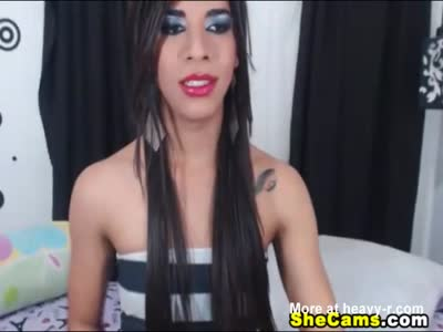 Exotic Shemale Moans in Pleasure While Masturbating