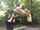 Girl Tied Up And Fucked By Machine