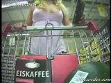 Flashing In Supermarket