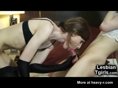 Kinky Tgirl Fucks Her Slave Trap GF!