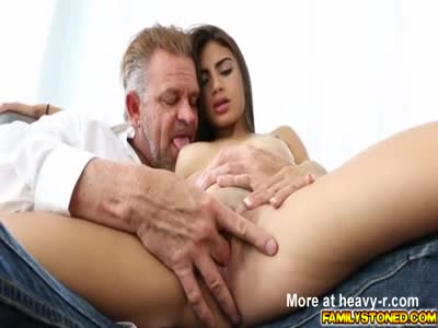 Father And Son Share Tiny Latina