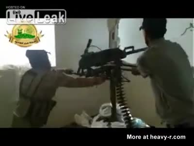 Headshot from Syrian Army Sniper