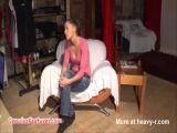 Undressing Girl Backstage