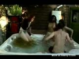 Girl shits in jacuzzi