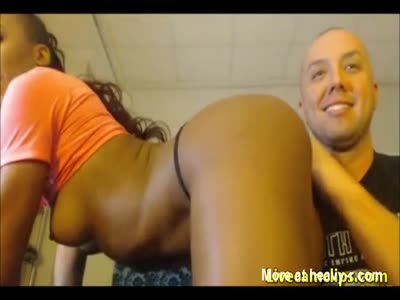 Interracial Cam Couple Performing Live