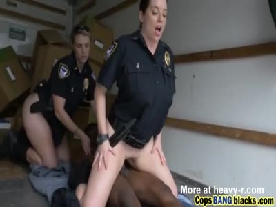 Hot cop sluts enjoy taking a black dick