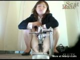 Hairy Japanese Office Girl Pooping