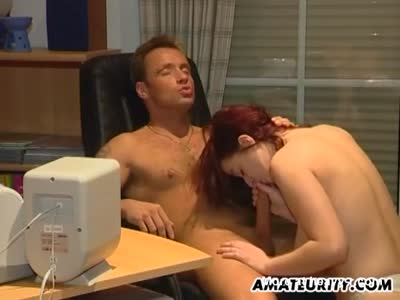 Busty Amateur Babe Has Office Sex