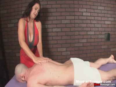 Huge titted massage gets a little rough