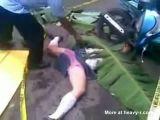 Schoolgirl In Skirt Lies Dead With Legs Wide Open