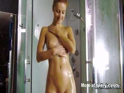 Adorable Teen Showering
