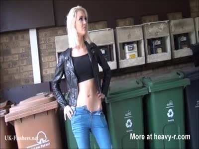 Daring Blonde Public Flashing