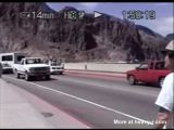 Young man jumps off the hoover dam
