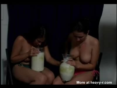 Topless Girls Puking