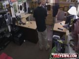 Sexy bitch dude fucked in pawn shop and filmed by hidden cam