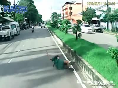 Schoolgirl hit by a pick up on a crosswalk