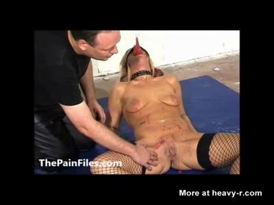 Bizarre Ass Wax Blindfolded Torture