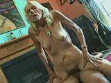 Old slut riding cock