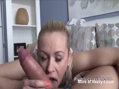 Big Booty Blonde Banged For Cash