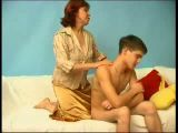 Boy caught jerking by his GFs mom