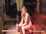Blonde Girl Naked Backstage