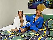Busty Milf Blonde Wife Dressed Up In Black Li...
